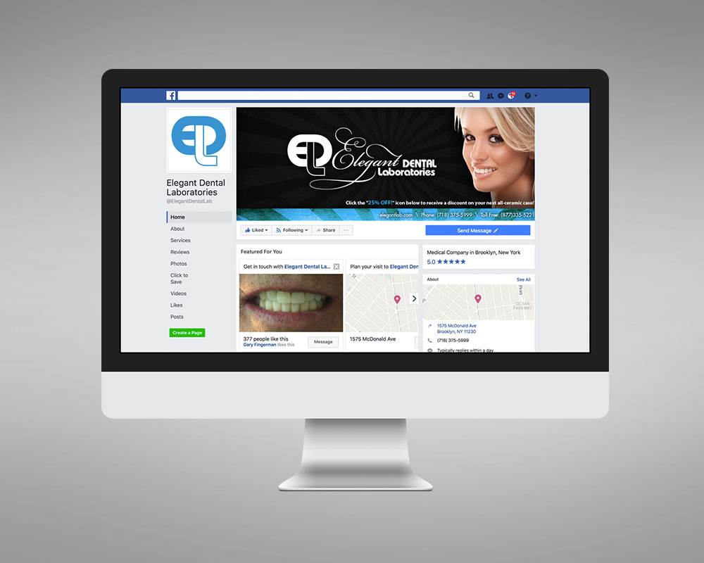 Elegant Dental Lab Social Media